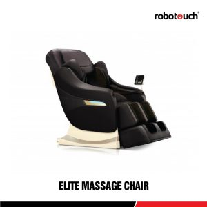Robotouch Elite Full Featured Smart Luxury Zero Gravity Massage Chair - Amazing Professional Full Body Massage Therapy-black-0