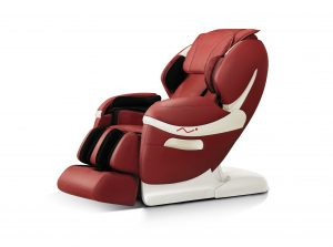 Robotouch Dreamline Intelligent 3-D Zero Gravity Massage Chair With Bluetooth, Android/IOS App, Magnetic Therapy - New Full Featured Luxury Shiatsu Chair - Color Rose Red.-257