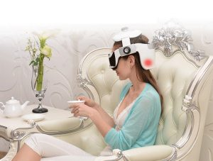 Robotouch Digital Head & Eye Intelligent Massager With Air Pressure Massage, Infrared Heat Therapy, Vibration Massage & Music Therapy – Rechargeable - Easy To Carry-444