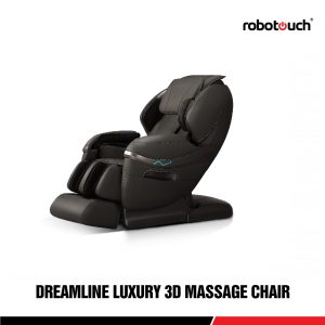 Robotouch Dreamline Intelligent 3-D Zero Gravity Massage Chair With Bluetooth,Android/IOS App,Magnetic Therapy - New Full Featured Luxury Shiatsu Chair - Color Black-0