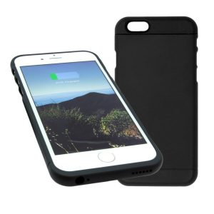 Wireless Charging Pad with Qi Wireless Charging Receiver Phone Case Charger Back Case Cover for iPhone 6 and 6S | 4.7 Inch Black | Slim Hard Case | Easy Installation(M3 Black)-606