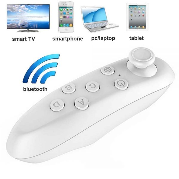 VR Remote Control, Bluetooth Wireless Mini Portable Remote Controller with  Controller Selfie ,Wireless Mouse,Video, Music, Mouse, Ebook for Ios