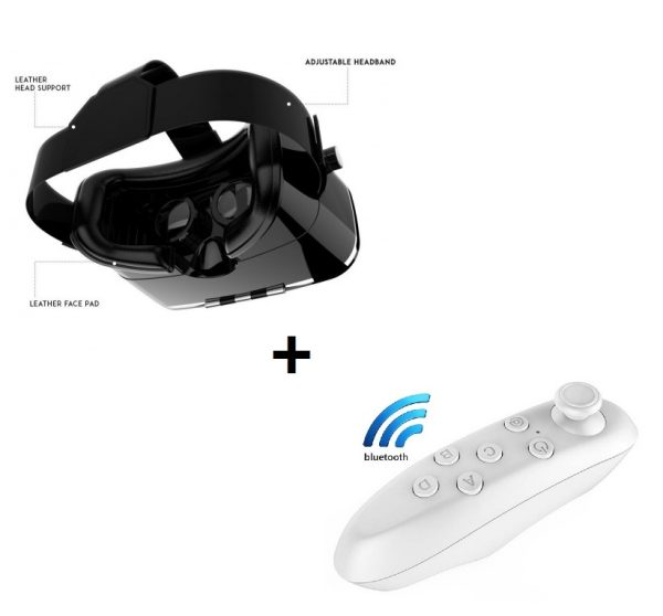 VR Lite(New) VR Headset - 100 -120 Degree FOV with Highest Immersive  Experience Bluetooth remote controller